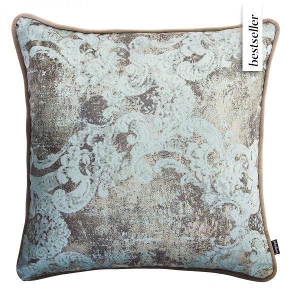 Miętowo-beżowa poduszka dekoracyjna Gold