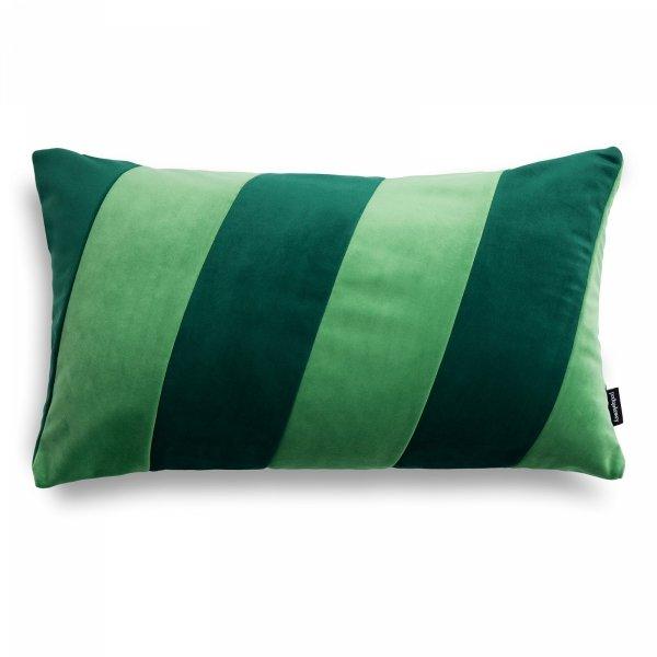 Stripes zielona poduszka dekoracyjna 50x30