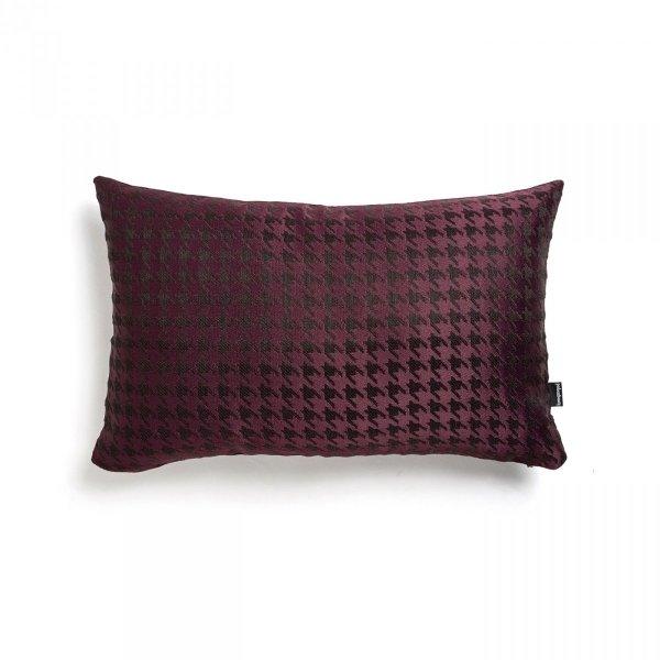 Bordowa poduszka w pepitkę