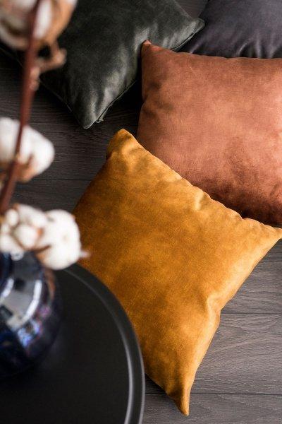 Glossy złota poduszka dekoracyjna 45x45