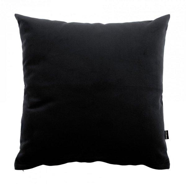 Pram czarna welurowa poduszka dekoracyjna 45x45