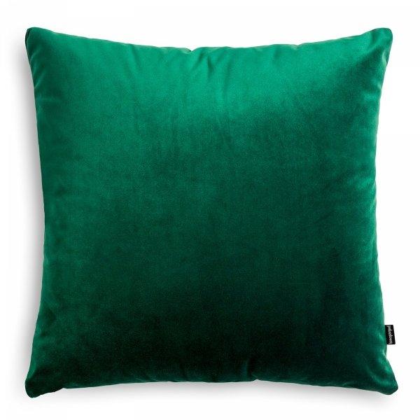 Velvet ciemno zielona poduszka dekoracyjna 45x45