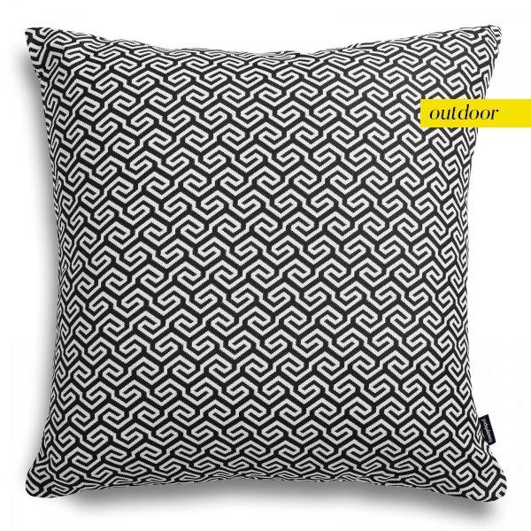 Czarno biała poduszka ogrodowa San Remo 45x45