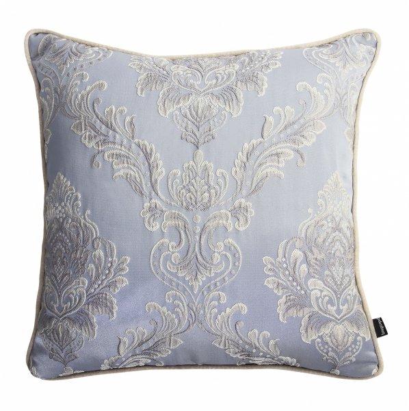 Błękitna poduszka dekoracyjna Queen 45x45