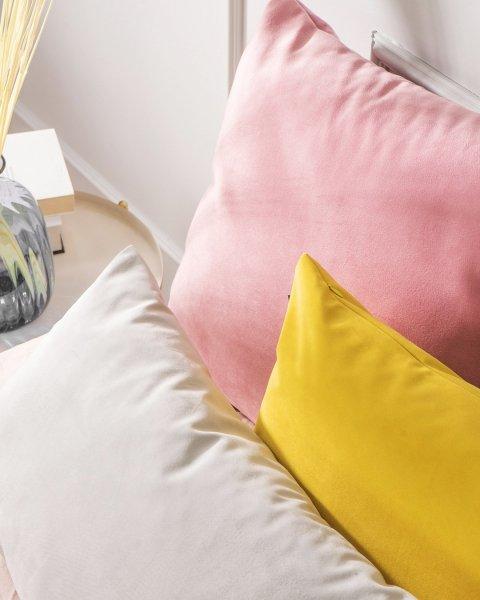Różowo żółty zestaw poduszek Velvet