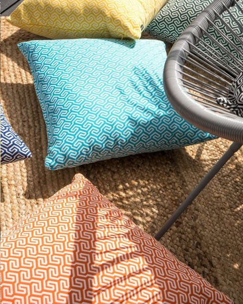 Błękitna poduszka ogrodowa San Remo 45x45