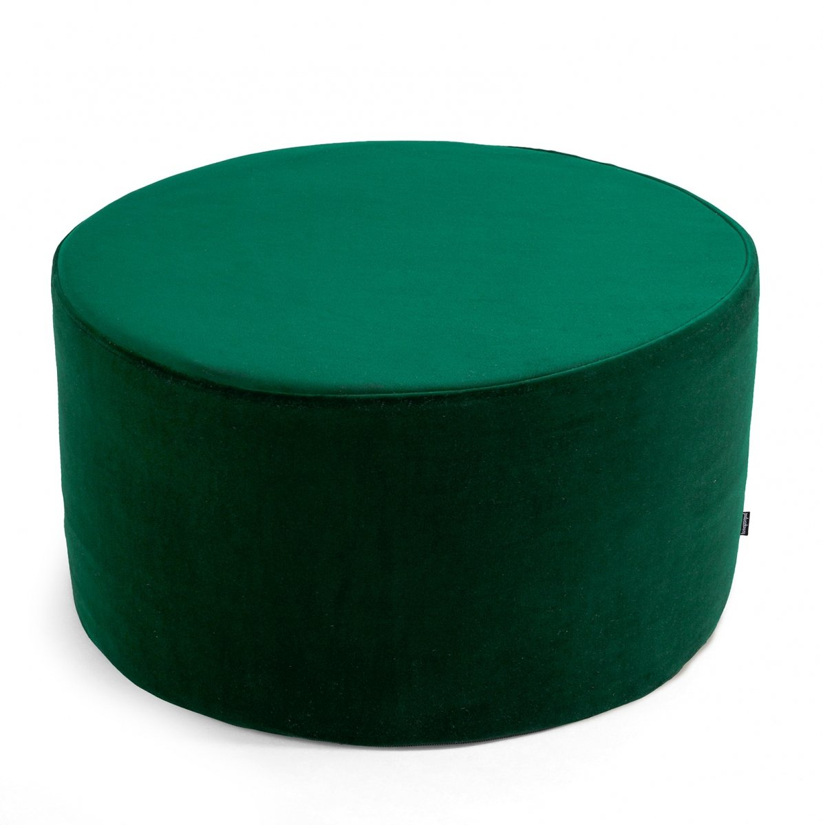 Duża ciemno zielona pufa welurowa 60x30