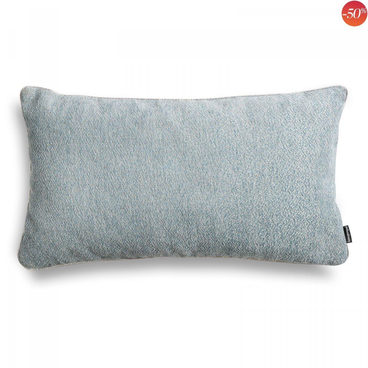 Alaska błękitna błyszcząca poduszka dekoracyjna 50x30