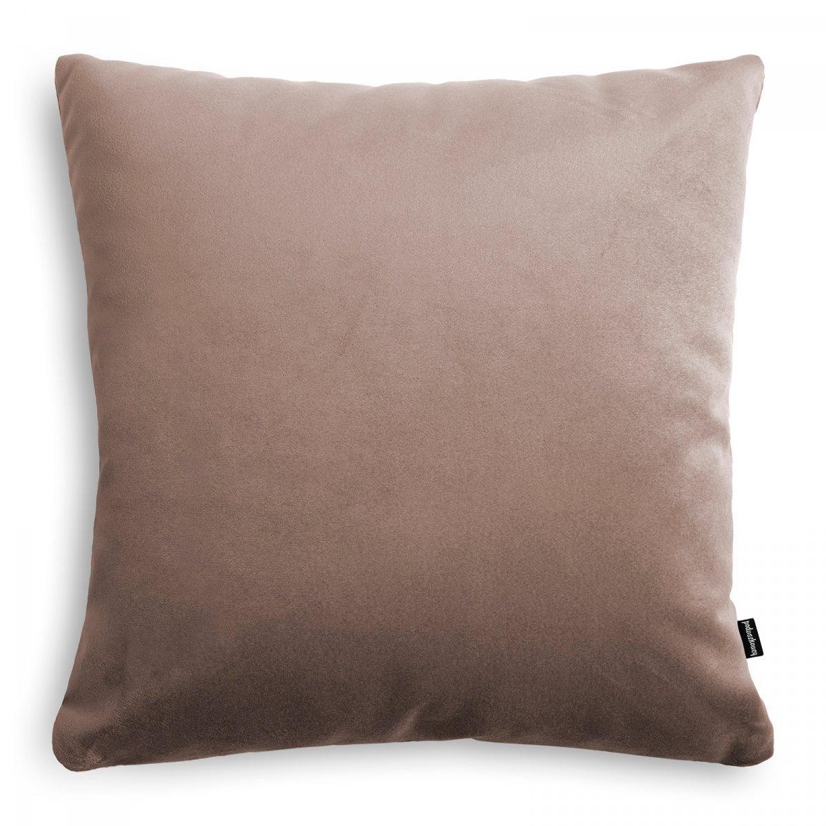 Velvet ciemno beżowa poduszka dekoracyjna 45x45