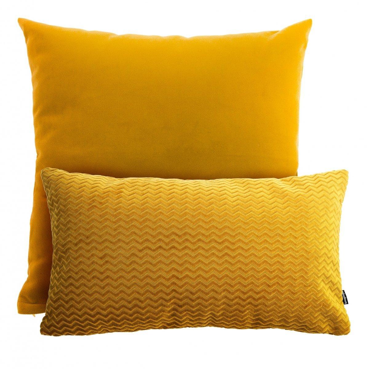 Miodowy zestaw poduszek dekoracyjnych Pram + Chevron