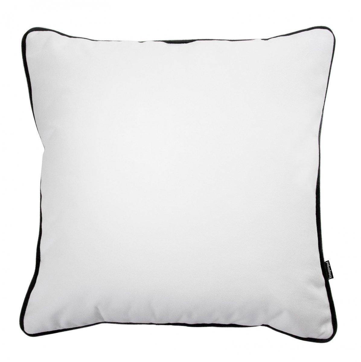 Biała poduszka dekoracyjna z lamówką 45x45 cm