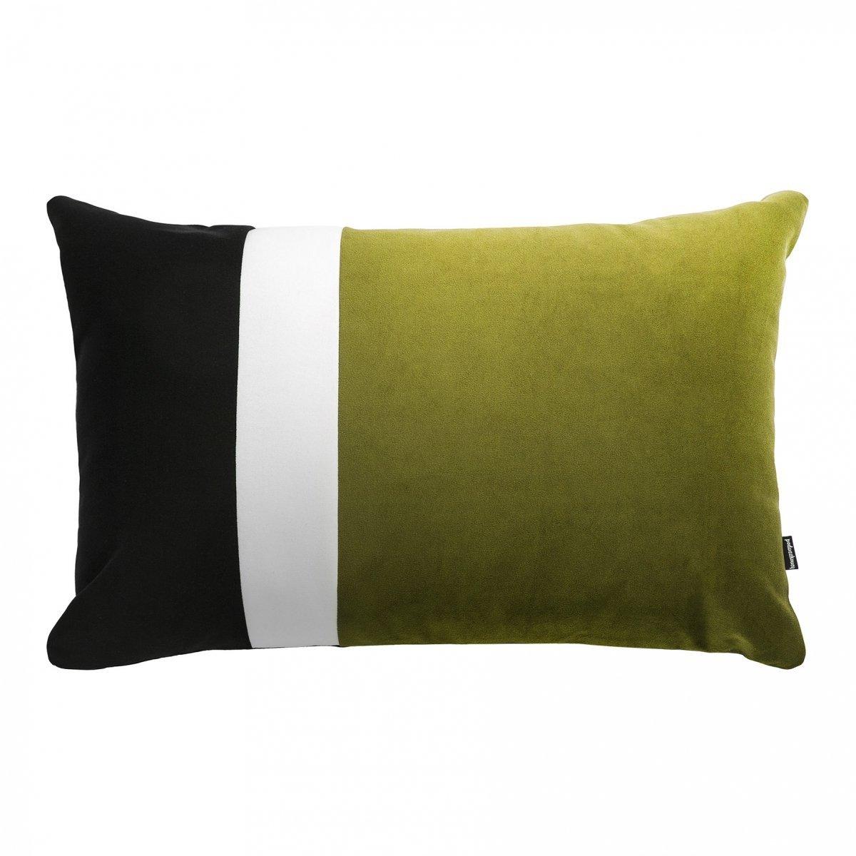 Pram L zielona welurowa poduszka dekoracyjna 40x60 cm