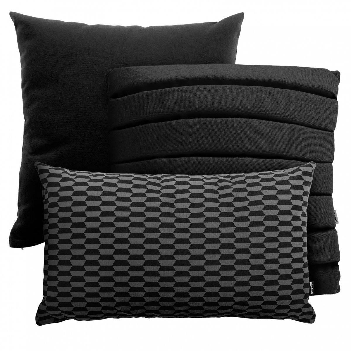 Czarny zestaw poduszek Level + Pram + Break