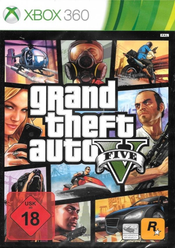 GTA V GRAND THEFT AUTO V 5 XBOX 360 PL