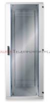 BKT Szafa ramowa stojąca, 22U, 800/800/1095, szer./gł./wys.  mm. drzwi blacha/szkło, RAL 7035 ( konstrukcja spawana - nośność 600 kg )