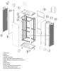 TOTEN Szafa RACK 19 stojąca G3 42U 600x1000mm, drzwi perforowane, czarna