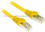 FTP Patch cord 0,5 m. Kat.5e żółty