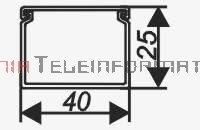 EMITER kanał / koryto kablowe PCW LS 40x25 białe