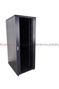 CC Szafa RACK 19 stojąca 42U 600x800 drzwi blacha/szkło, czarna