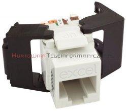 EXCEL keystone kat.5 UTP biały, Low Profile, beznarzędziowy
