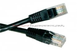 UTP Patch cord 20,0 m. Kat.5e  czarny
