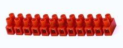 Złączka listwa zaciskowa 12-torowa 6mm2, pomarańczowa