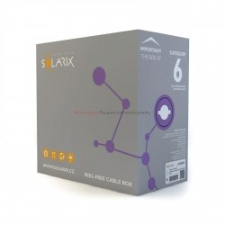 SOLARIX kabel U/UTP, drut, LSOH Dca, fioletowy, kat.6 - 305m