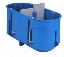 SIMET Puszka podtynkowa 2x60mm do regips, głęboka niebieska P2x60D