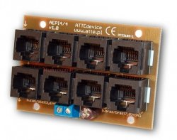 ATTE Moduł zasilania PoE dla 4 urządzeń IP – 4 przelotowe wejścia RJ45