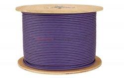 SOLARIX kabel U/UTP, drut, LSOH, fioletowy, kat.6 - 500m