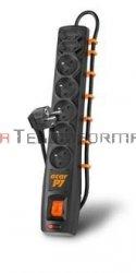 Acar P7 listwa zasilająca, 7x230, wyłącznik, bezpiecznik, 1.5m, czarna