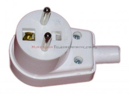 Wtyczka kątowa 1x230V do zarobienia na przewód elektryczny