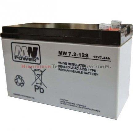 MW POWER Akumulator AGM 12V 7,2 Ah (5lat)