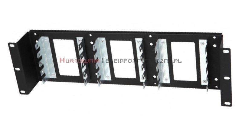 "Panel gniezdnik 19"" 3U na 15 łączówek LSA (150 par), czarny"