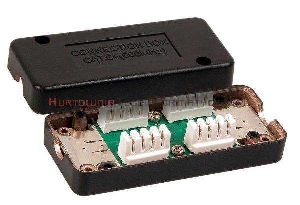 Łącznik kabla kat. 6a/7, LSA, FTP obudowa plastikowa czarna