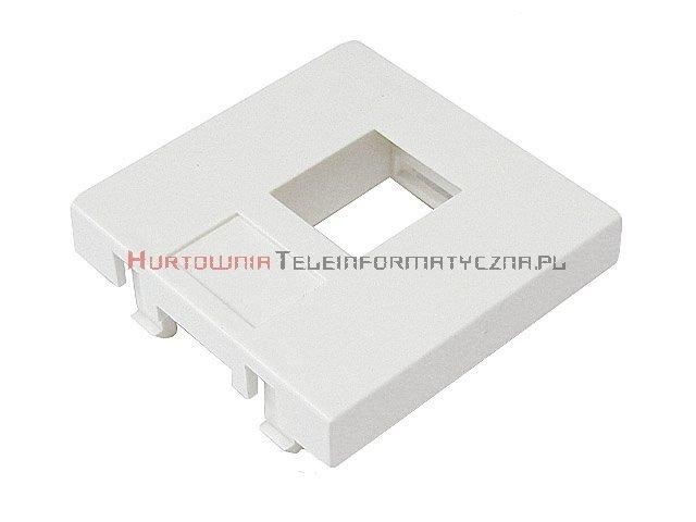 Adapter prosty 2 mod. 45x45mm pod keyston 1xRJ45, bez klapki