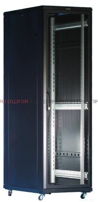 """TOTEN Szafa RACK 19"""" stojąca G3 42U 600x1000mm, drzwi perforowane, czarna"""