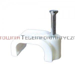 Uchwyt kablowy typu FLOP z gwoździem, na kabel płaski 4/2 mm (200 szt.)