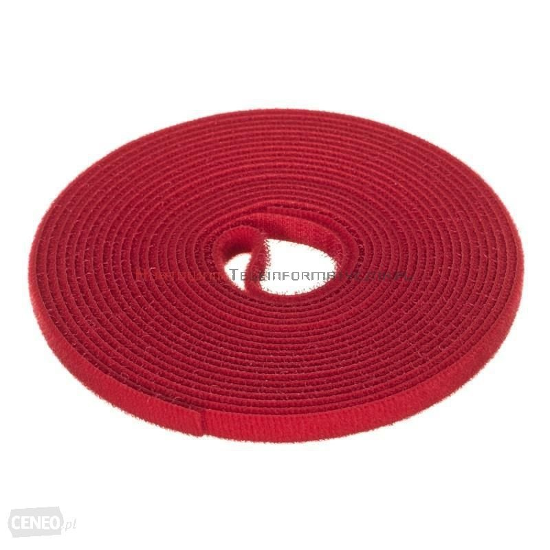 Opaska kablowa rzepowa 5m, 9mm, czerwona