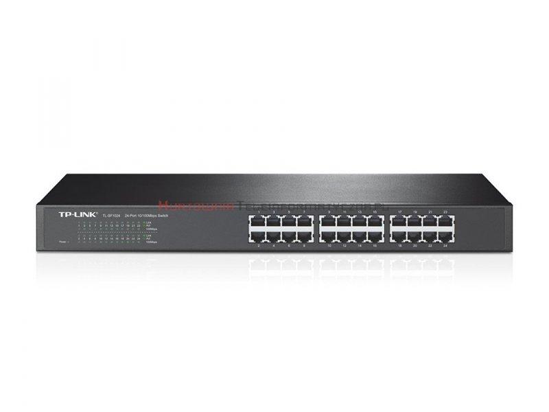 "TP-LINK SF1024 Switch 24-port Fast Ethernet, RACK 19"""
