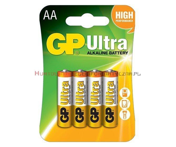 GP ULTRA Bateria alkaliczna 1,5V AA LR6 (4 szt.)