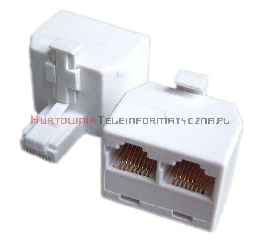 Rozdzielacz telefoniczny trójnik RJ45 8p8c 1x wtyk - 2x gniazdo