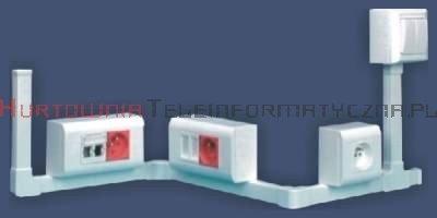 EMITER kanał / koryto kablowe PCW LS 35x18 białe