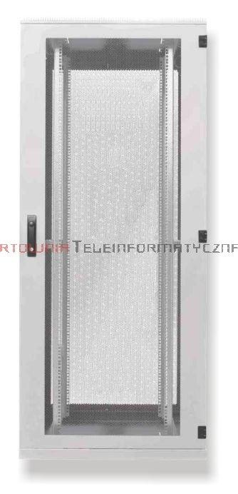 BKT Serwerowa szafa ramowa stojąca Standard II 42U, 600/1000/1980, szer./gł./wys. mm.  drzwi perforowane, RAL 7035 ( konstrukcja spawana - nośność 1000 kg )