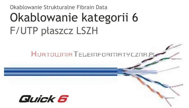 FIBRAIN DATA Quick kat.6 F/UTP 350Mhz, drut, LSZH niebieski