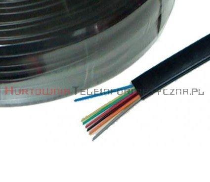 Kabel telefoniczny płaski 8-żyłowy, czarny