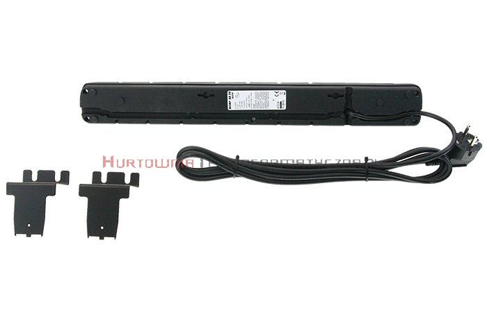 Acar S8 listwa zasilająca, 8x230, wyłącznik, bezpiecznik, 3.0m, czarna