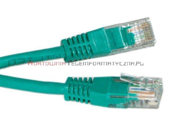 UTP Patch cord 0,25 m. Kat.5e zielony