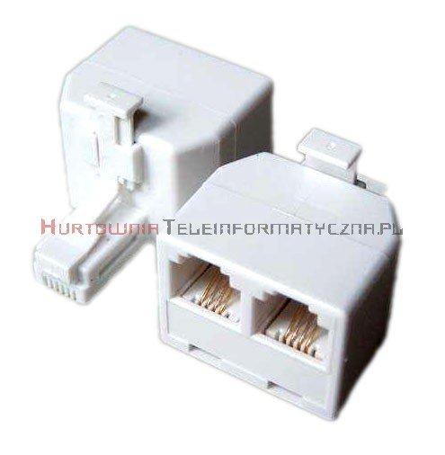 Rozdzielacz telefoniczny trójnik RJ11 6p4c 1x wtyk - 2x gniazdo