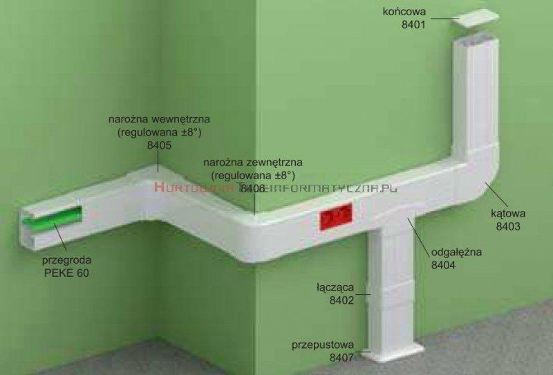 KOPOS Pokrywa narożna wewnętrzna / Narożnik wewnętrzny PK90x55D